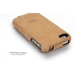 SGP Leather Case Vintage Edition for iPhone 4, 4S [Brown Flat] (SGP06754S)